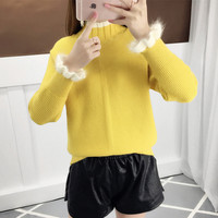 Knit Jumper Autumn Winter Women Pullover Sweater Turtleneck Long Sleeve women sweaters and pullovers