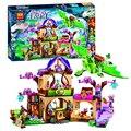 Bela 10504 694 Unids Amigo Elfos El Secreto Mercado Kit de Construcción de Bloques de Construcción Figuras Niña Juguetes para Niños de Regalo