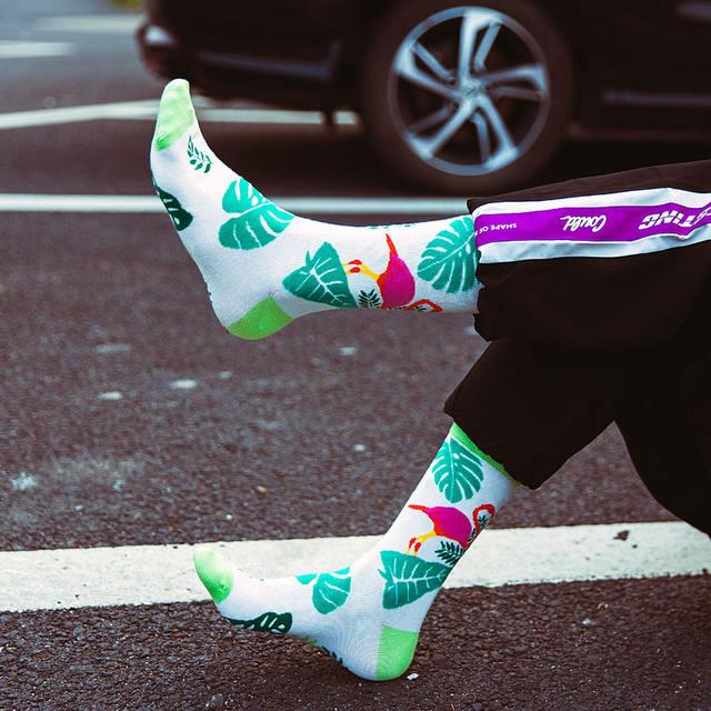 Happy Funny Men's Socks High Quality Combed Cotton Long Colored Dress Socks Novelty Tube Skateboard Wedding Socks Cool