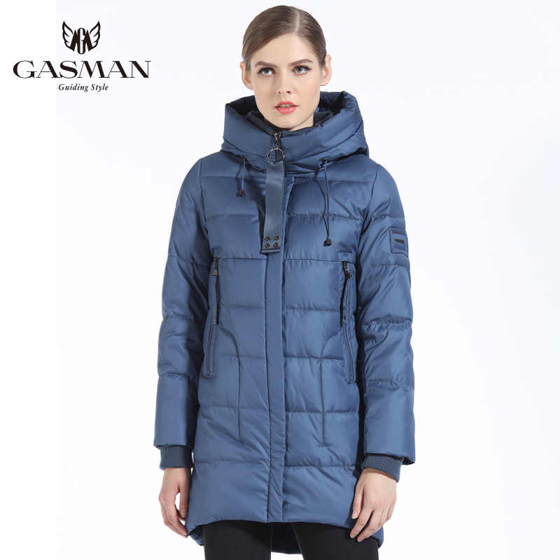 GASMAN Marka Kadınlar Biyo Aşağı Ceket Ve Parka Kadınlar Için Uzun Kış Kalınlaşma kapüşonlu ceket Kadınlar Yeni Kış Koleksiyonu 2019