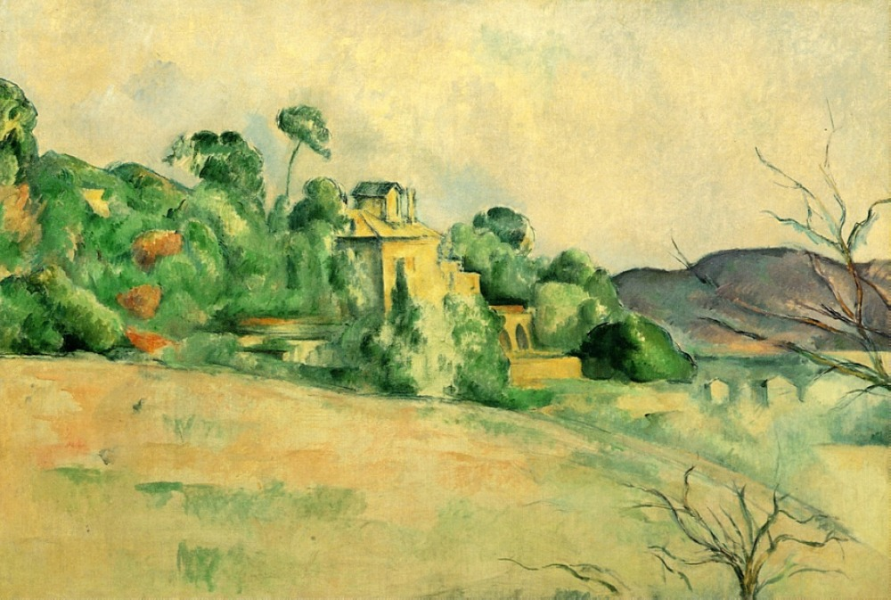 100% hand made Oil Painting Reproduction on linen canvas,landscape-at-midday-1887 by paul Cezanne,Landscape oil painting100% hand made Oil Painting Reproduction on linen canvas,landscape-at-midday-1887 by paul Cezanne,Landscape oil painting