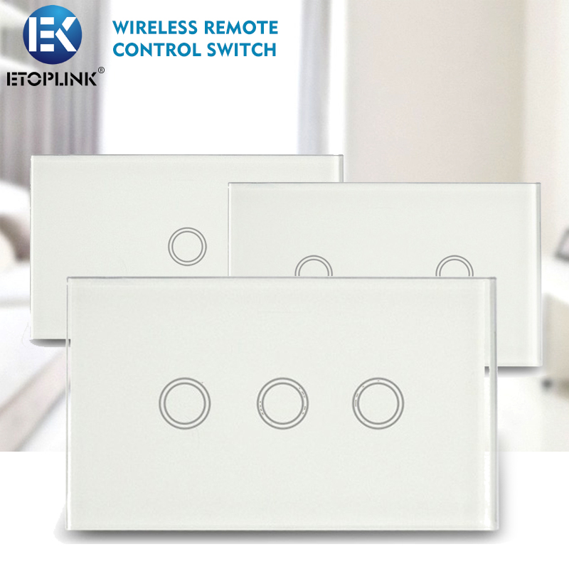 Geeklink Glass Intelligent Wireless Remote Control Touch Switch Panel US Standar