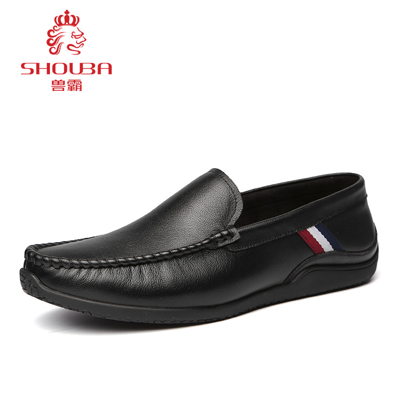 ФОТО Men's Spring Black Mocassins Casual Business Travel Walk Soft Deodorizer Dress Slip on Full Grain Leather Shoes