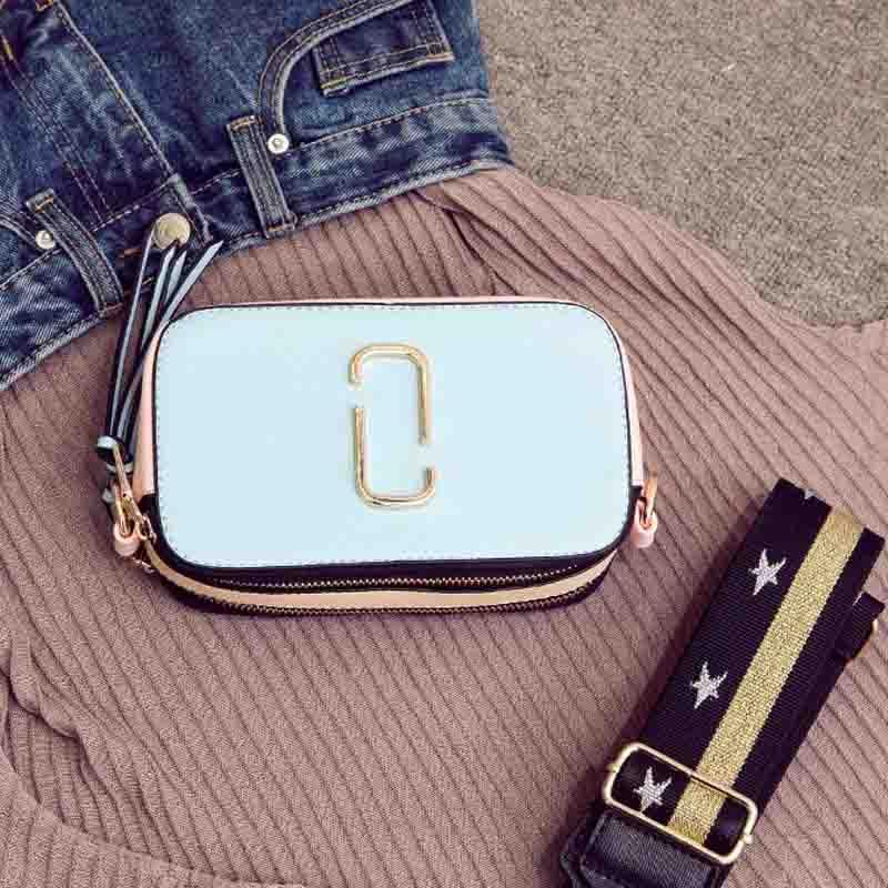 2017 Famoso diseñador de la marca small Shoulder bags mujeres pop italiano bolsos sac bolsa correa ancha de cuero Crossbody bolsos de tarde
