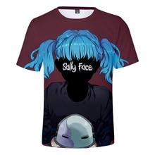 2019 Summer Sally Face 3D t shirt Men/women Harajuku Short Sleeve Print Mens T-shirt High Quality Clothe