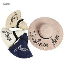 Maxsiti u mujeres letra brillante sombrero de paja femenino del sol de  verano sombrero.( 9d5775a1848