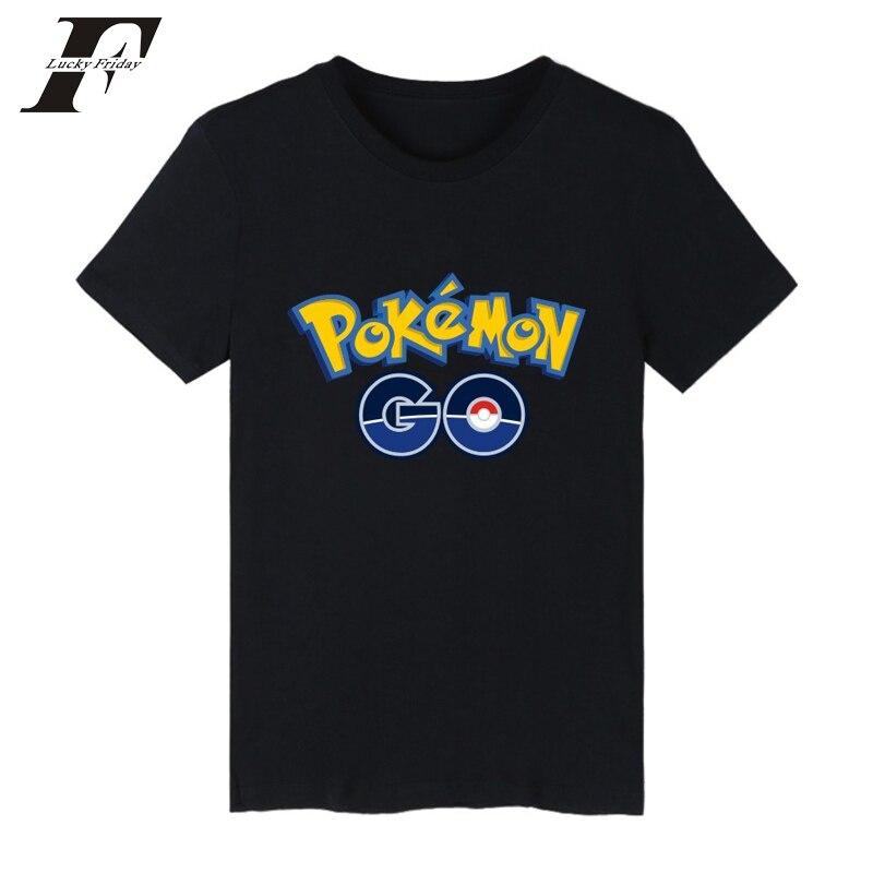2017 Game Pokemon Go Charmander T-shirts Men women fitness T Shirts Summer Brand clothing Anime Pokemongo Cotton Tee tops