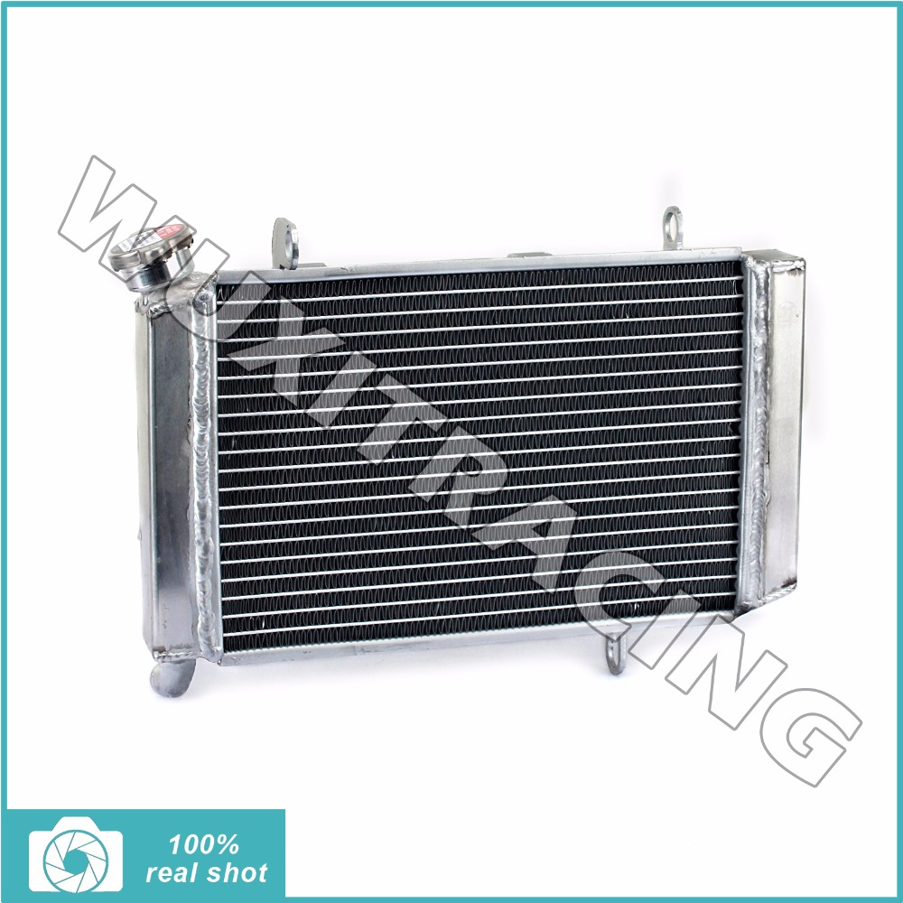 все цены на  Aluminium Core New Motorcycle Dirt Bike ATV Quad Radiator Cooling Cooler for KAWASAKI KFX 400 KFX400 2003 2004 2005 2006 03-06  онлайн