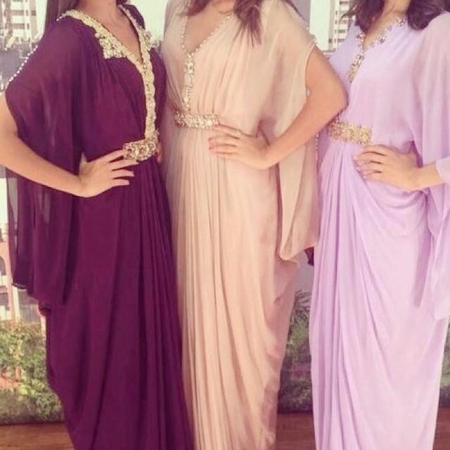 Saudi Arabia Women Moroccan Long Kaftan Party Dress 2016 Custom Made With Rhinestone Crystals Bat Sleeves