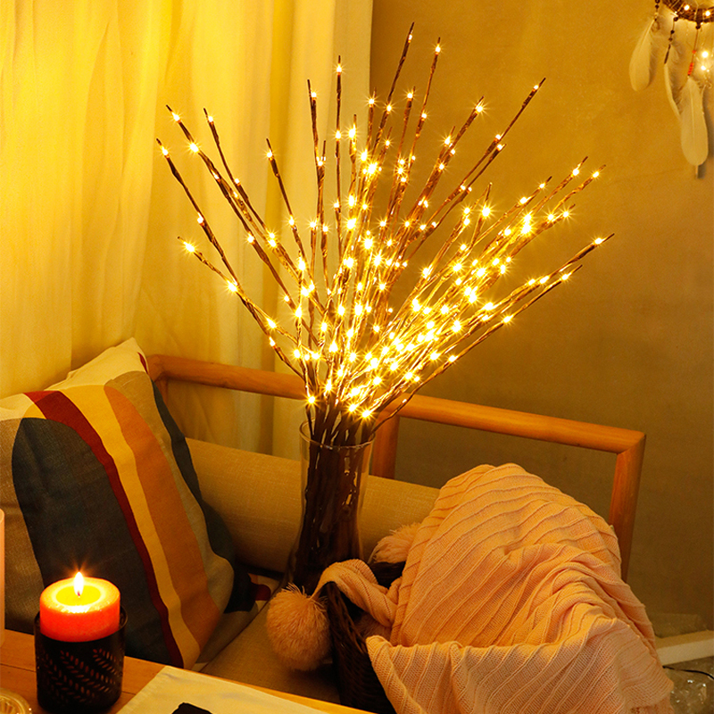 2018 New Modern Branch Lamp Floral Light 20LED AA Battery Powered Willow Branch Fairy Light Vase Coffe Bar Wedding Holiday Decor (14)
