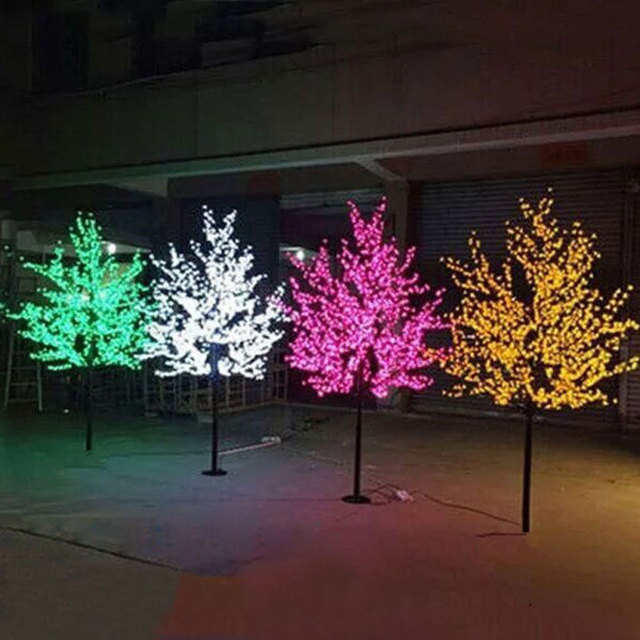 2.5Meters 1248PCS led landscape tree lights christmas garden decoration with led blue christmas lights  Europe/USA
