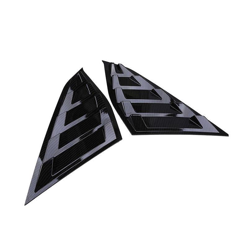 POSSBAY רכב מדבקת רבעון צד חלון רפפות סקופ כיסוי Vent עבור הונדה אקורד סדאן 2018-הווה שחור חלון קישוט