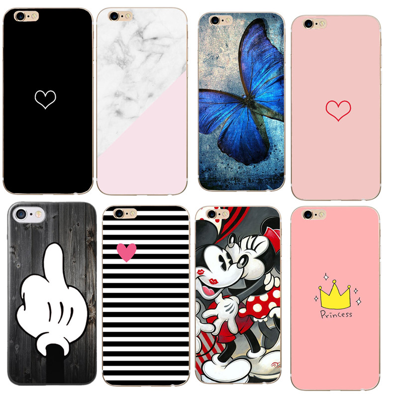 Crown For Iphone 7 Case Protection Cases For Iphone 8 Case 6S 5 5S SE X 7 8 Plus Soft Silicon TPU For Iphone 6 Case