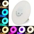 DC5V RGB Digital Led Alarm Clock Radio FM Branco Ajustável Mudança Da cor do Toque Display Circular Moderno Despertar Candeeiro de Mesa luz