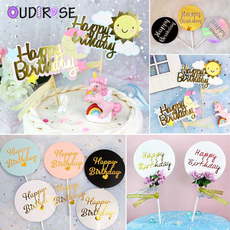 OUDIROSE Золотой Серебряный кекс family семья воссоединение счастливое украшение для именинного торта свадебные выпечки декоративное печенье anniversaire
