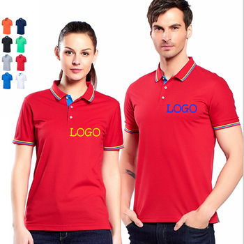 US Normally Big Size Printing/Embroidery LOGO Polo shirt Solid Tees Cotton Top shirts Men POLO Custom Your LOGO Unisex clothes