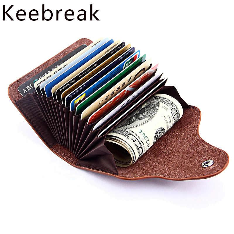 Genuíno Couro De Homens Carteira ID Titular do Cartão de Crédito Carteiras Masculino bolsa de Moedas de Pequeno Saco Mulheres Dinheiro Vallet Mini-walet