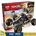 443 unids 2016 cars bela 10524 ninja building blocks ladrillos carretera rockero arma juguetes compatibles con lego