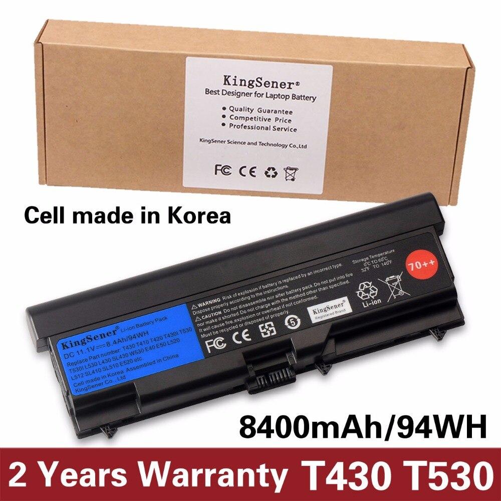 KingSener Cellule de La Corée Nouvelle Batterie D'ordinateur Portable pour Lenovo ThinkPad T430 T430I T530 T530I W530 SL430 SL530 L430 L530 45N1007 45N1006