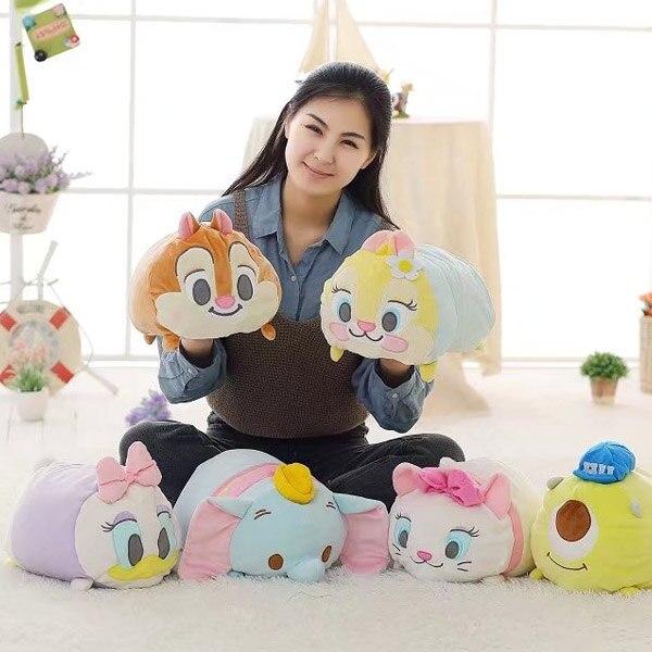 candice guo! cute plush toy cartoon Marie Cat Dumbo Daisy monster chipmunk pillow cushion creative birthday Christmas gift 1pc