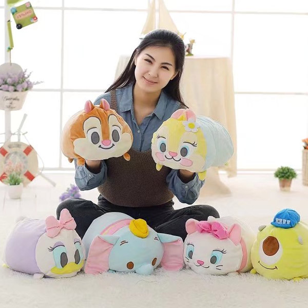 candice guo! cute plush toy cartoon Marie Cat Dumbo Daisy monster chipmunk pillow cushion creative birthday Christmas gift 1pc candice guo new style plush toy cartoon gudetama lazy egg yolk cushion hand warm blanket 3 in 1 creative birthday gift 1pc