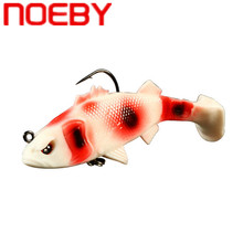 NOEBY 6 Colors Soft Lure 6.5cm/8g 9.5cm/20g Wobblers Artificial Bait Silicone Fishing Lures Sea Bass Carp Fishing Lead Fish Jig