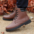 autumn winter boots Male Martin warm men's retro high-top boot men cotton fabric leather shoes casual lace up footwear