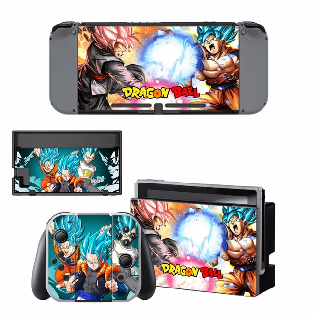 ARRKEO Dragon Ball Xenoverse 2 Protective Cover Vinyl Decal Skin Sticker for Nintend Switch NS Console & Wireless Controller  3