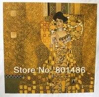 gustav klimt portrait of mrs adele bloch bauer oil painting handmade reproduction