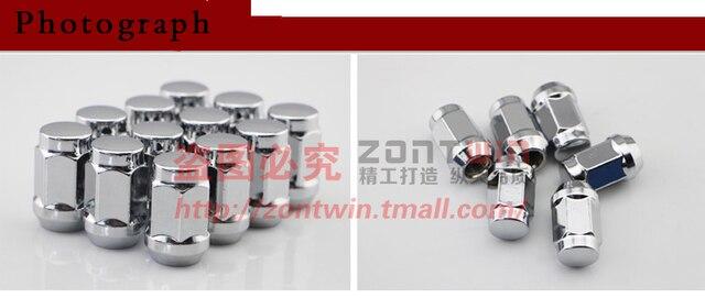 Universal car  wheel nut  12x1.25 lug nut Hex 21 wheel bolts Free shipping