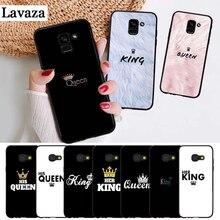 Lavaza Queen & King Couple Novelty Fundas Silicone Case for Samsung A3 A5 A6 Plus A7 A8 A9 A10 A30 A40 A50 A70 J6 A10S A30S A50S