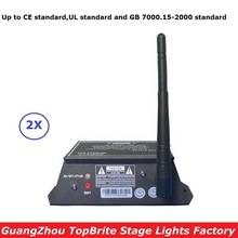 2X Free Ship 2.4G Wirless DMX Controller 126 Channels 300M Range DMX512 Wireless Receiver Transmitter 2IN1 Console LED Display
