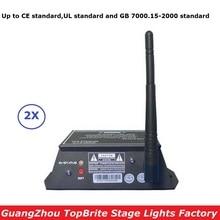 2X Free Ship 2.4G Wirless DMX Controller 126 Channels 300M Range DMX512 Wireless Receiver Transmitter 2IN1 Console LED Display все цены