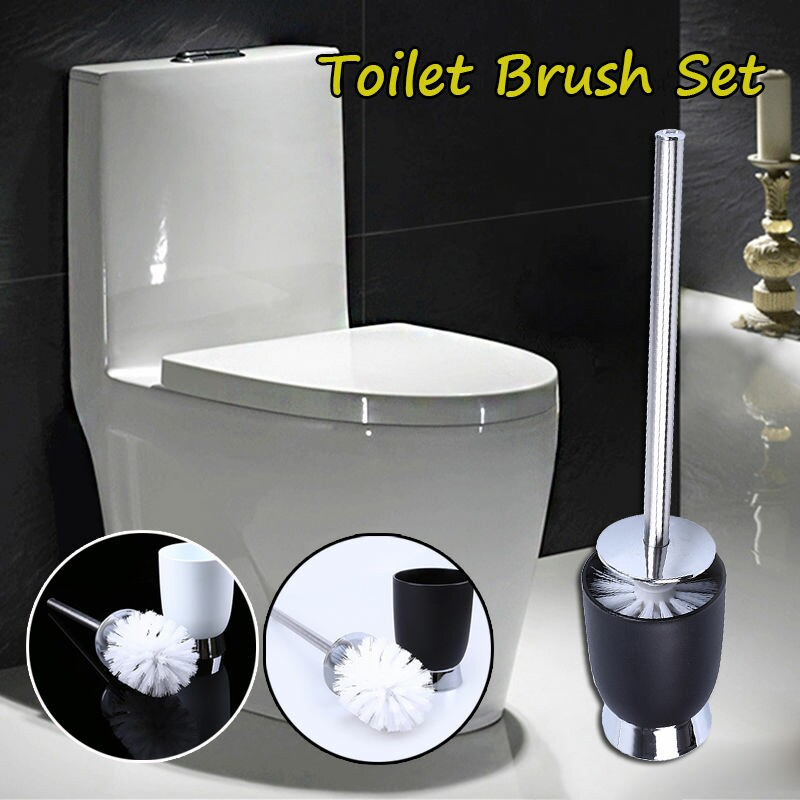 Clean A Bathroom Set european soft toilet brush with stainless steel long handle and