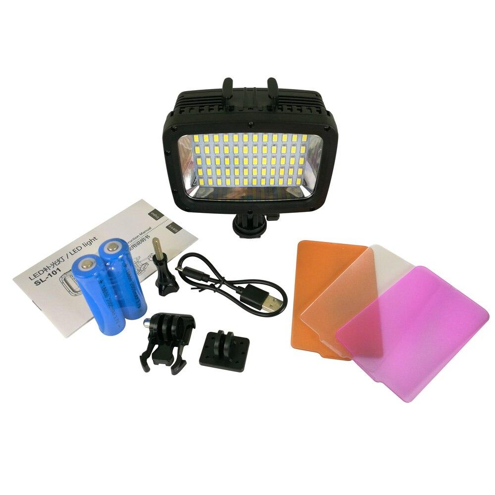 40M Underwater 12w 1800LM 5500K 6000K LED Video Light for canon nikon pentax GoPro Xiaomi Yi SJCAM Diving Camera waterproof case