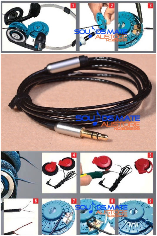 Black New Upgrade Silver Plated Cable For KOSS Porta Pro Portapro PP Headphones Headsets