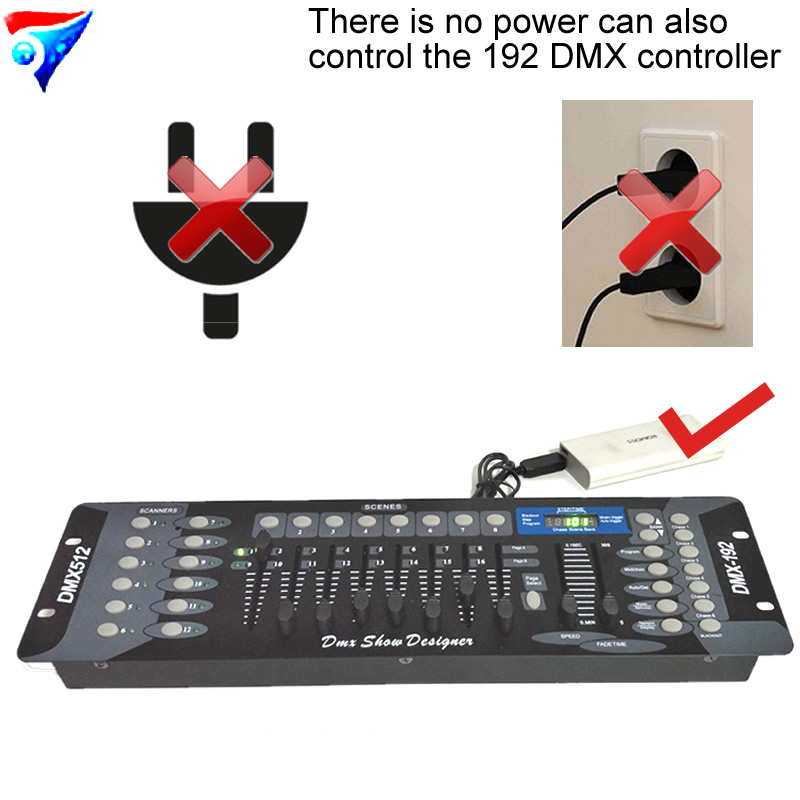Free Shipping 192 DMX Controller Stage Lighting Do not need to plug the 192 dmx console and Outdoor stage lighting controller free shipping dmx 192 controller cheap