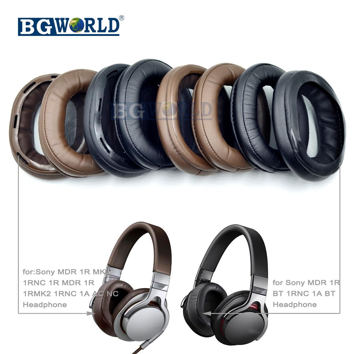 BGWORLD  Cushion Ear Pads Earpads Foam Covers For SONY MDR 1R 1R NC 1R MK2 1RBT MK2 1A 1ADAC 1ABT DAC BT Headphones Sponge
