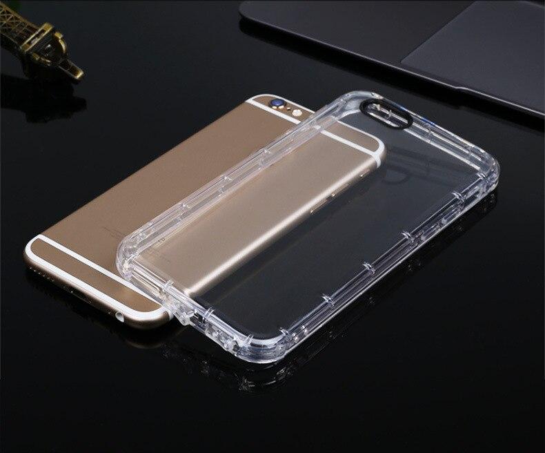 Tpu de silicona a prueba de golpes teléfono case para fundas iphone 6 6s case cu