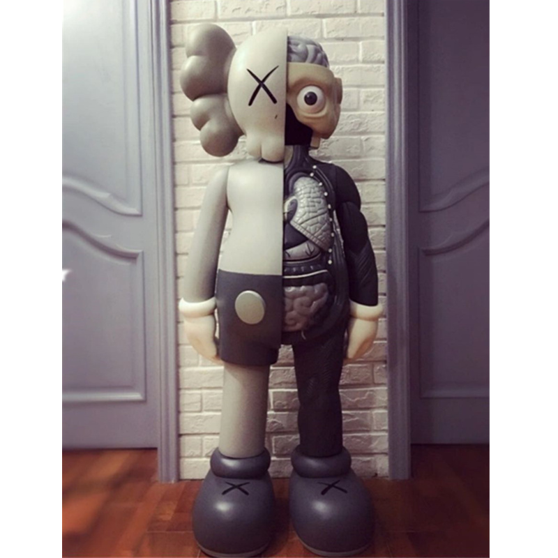 1.3M OriginalFake KAWS Dissected Companion Brian Street Art BFF 4FT Action Figure Collectible Model Medicom Toy L1941 цена