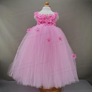 0f7be00310cb0 Beautiful Flower Tutu 2 1 Year Girl Baby Birthday Dress Infant ...