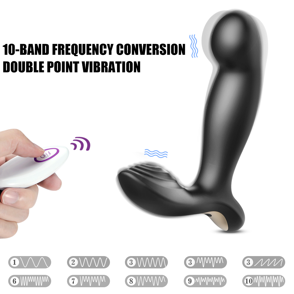 2018 Male Prostate Massager Anal Vibrator Silicone 10 Speeds Butt Plug Sex Toys for Men Anal Toys Male Masturbator for Adult in Vibrators from Beauty Health