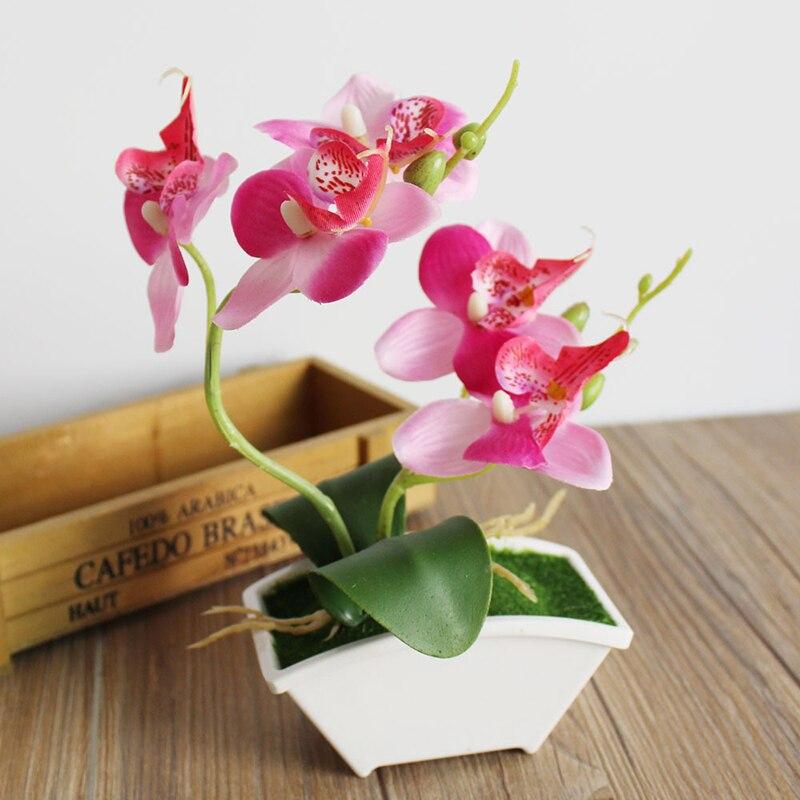 Mesterséges pillangó Orchidea szimuláció Virágkészlet valódi érintéssel hagy mesterséges növények teljes virágos esküvői dekoráció p20