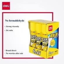 6PCS/BOX Deli 6370 solid glue stick whole sale 15g x6 pieces Formaldehyde free glue gun glue sticks