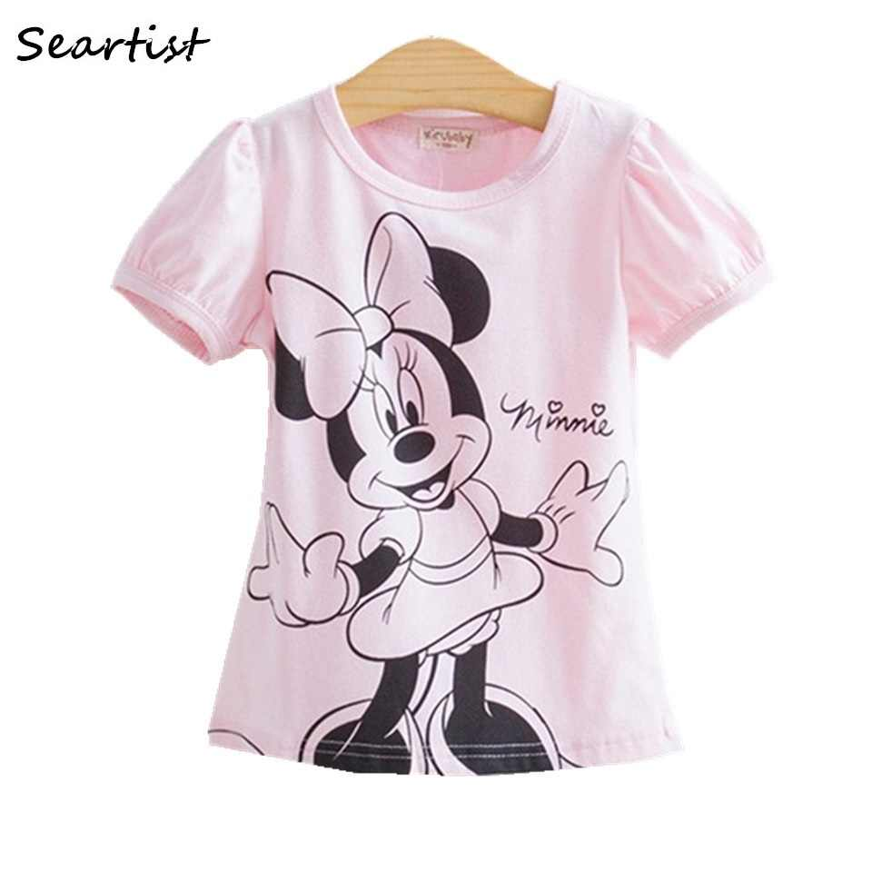 26cdef84f Camisetas de manga corta de dibujos animados de Minnie de verano ...
