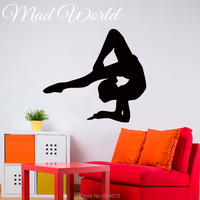 Gymnast Girl Pose Yoga Sport Wall Art Sticker Decal Wall Art Home Decoration Wall Sticker Removable