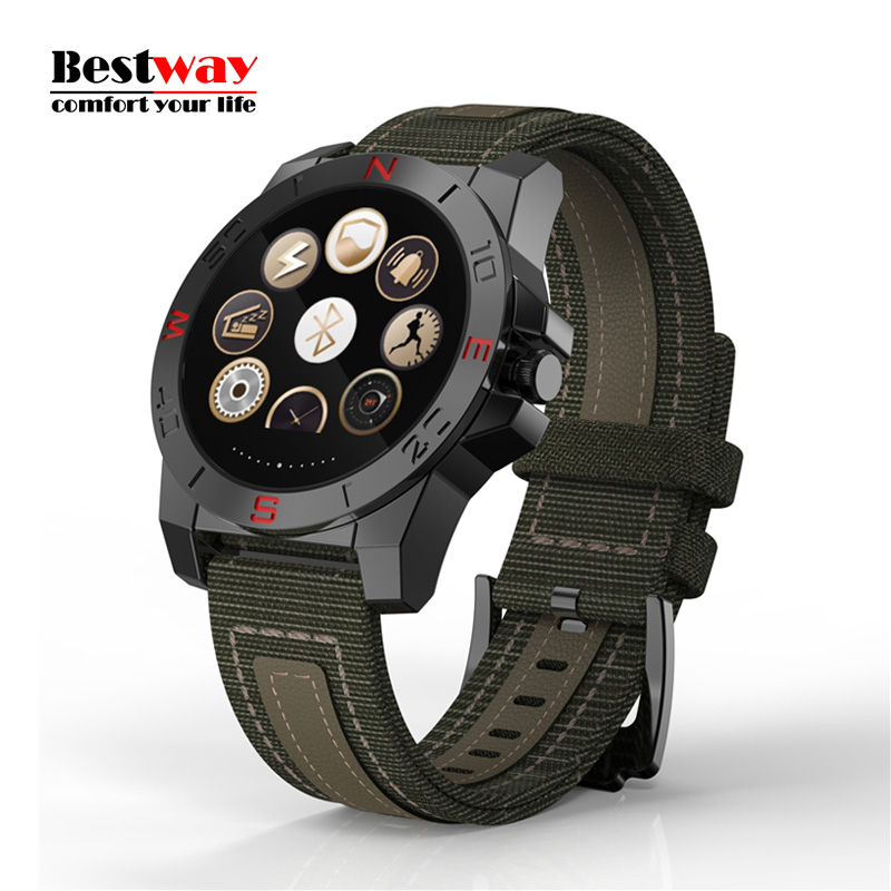N10 Outdoors font b Smartwatch b font Android IOS Bluetooth Waterproof Digital watch Heart Rate Monitor