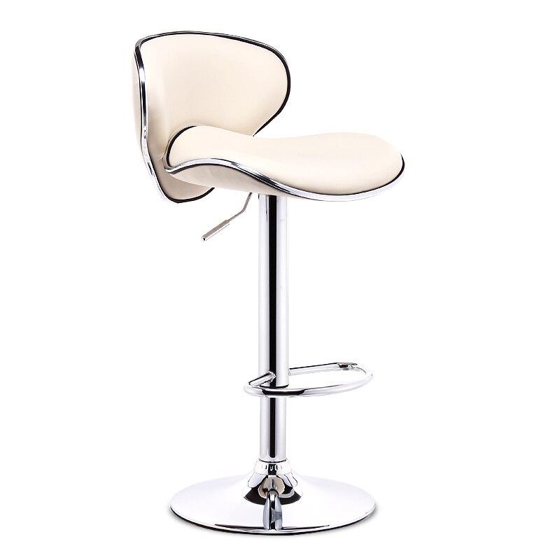 60-80 CM hauteur réglable tabouret de Bar pivotant en métal PU haut en cuir à manger chaise moderne Style Bar meubles