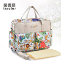 Multi-Color Baby Diaper Bag Shoulder Handbag Multifunctional High Quality Floral Print Maternity Mother Stroller Nappy Mummy Bag