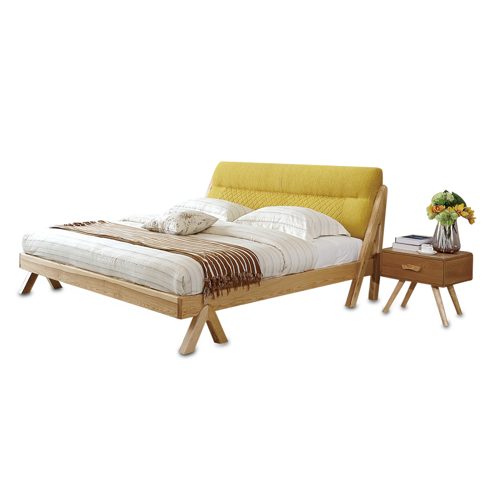 1122H3012  1.8m 5.91ft 70.9in Modern minimalist wedding king size Original Nordic style All solid wood large bed frame smoby детская горка king size цвет красный